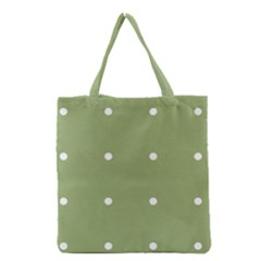 Olive Dots Grocery Tote Bag