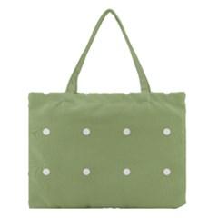 Olive Dots Medium Tote Bag