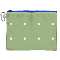 Olive Dots Canvas Cosmetic Bag (xxl)