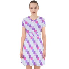 Geometric Squares Adorable In Chiffon Dress