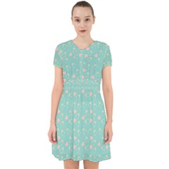 Teal Hearts And Hats Adorable In Chiffon Dress