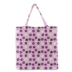 Pink Donuts Grocery Tote Bag