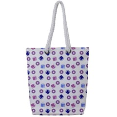 Milk And Donuts Full Print Rope Handle Tote (small)
