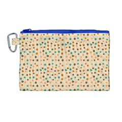 Vintage Hearts Canvas Cosmetic Bag (large)