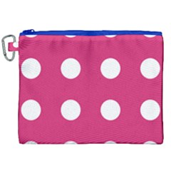 Pink Dot Canvas Cosmetic Bag (xxl)