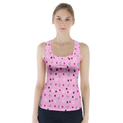 Pink Milk Hearts Racer Back Sports Top
