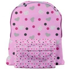 Pink Milk Hearts Giant Full Print Backpack