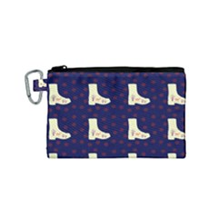 Navy Boots Canvas Cosmetic Bag (small)