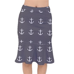 Grey Anchors Mermaid Skirt
