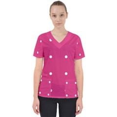 Small Pink Dot Scrub Top