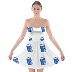 Milk Carton Strapless Bra Top Dress