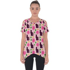Outside Cats Cut Out Side Drop Tee
