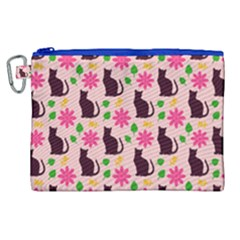 Outside Cats Canvas Cosmetic Bag (xl)