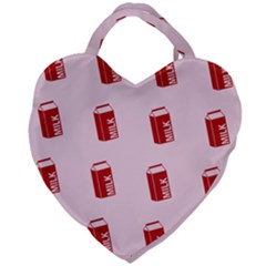 Strawberry Milk Giant Heart Shaped Tote