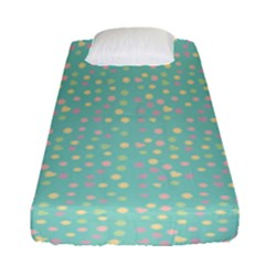 Light Teal Hearts Fitted Sheet (single Size)
