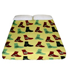 Yellow Boots Fitted Sheet (king Size)