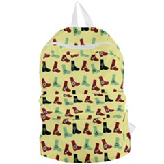 Yellow Boots Foldable Lightweight Backpack