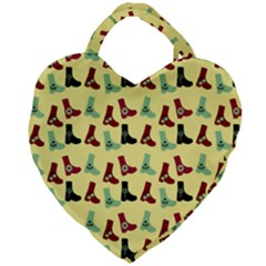 Yellow Boots Giant Heart Shaped Tote