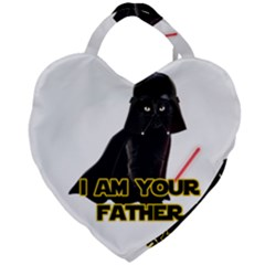 Darth Vader Cat Giant Heart Shaped Tote