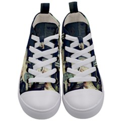 Abandonded Dollhouse Kid s Mid Top Canvas Sneakers