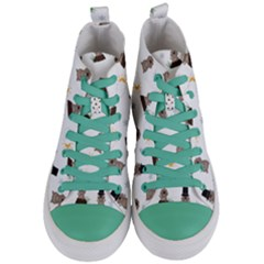 Groundhog Day Pattern Women s Mid Top Canvas Sneakers