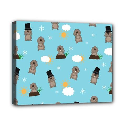 Groundhog Day Pattern Canvas 10  X 8