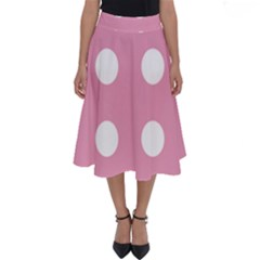 Pale Pink Dot Perfect Length Midi Skirt