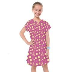 Yellow Flowers Dress Kids  Drop Waist Dress