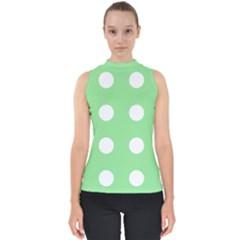 Lime Dot Shell Top