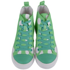 Lime Dot Women s Mid Top Canvas Sneakers