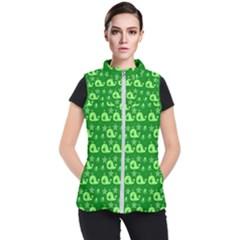 Green Sea Whales Women s Puffer Vest