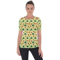 Yellow Sea Whales Short Sleeve Top