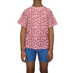 Rose Cherries Kids  Short Sleeve Swimwear