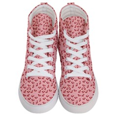Rose Cherries Women s Hi Top Skate Sneakers
