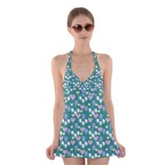 Ocean Cherry Halter Dress Swimsuit