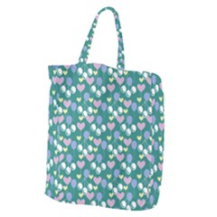 Ocean Cherry Giant Grocery Zipper Tote