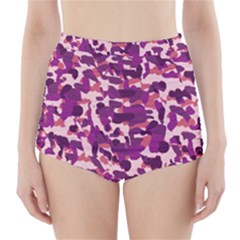 Pink Camo High Waisted Bikini Bottoms