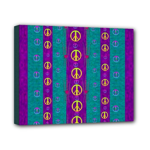 Peace Be With Us This Wonderful Year In True Love Canvas 10  X 8
