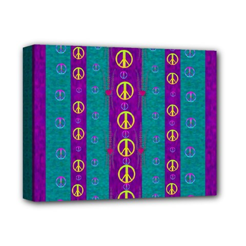 Peace Be With Us This Wonderful Year In True Love Deluxe Canvas 14  X 11