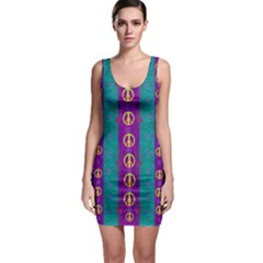 Peace Be With Us This Wonderful Year In True Love Bodycon Dress