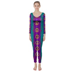 Peace Be With Us This Wonderful Year In True Love Long Sleeve Catsuit