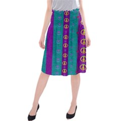 Peace Be With Us This Wonderful Year In True Love Midi Beach Skirt