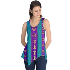 Peace Be With Us This Wonderful Year In True Love Sleeveless Tunic