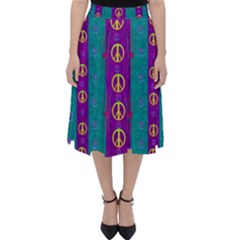 Peace Be With Us This Wonderful Year In True Love Folding Skater Skirt