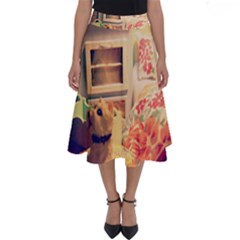 Cream Dollhouse Perfect Length Midi Skirt