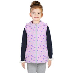 Blue Pink Hearts Kid s Puffer Vest