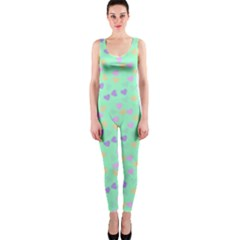 Minty Hearts Onepiece Catsuit