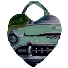 Cruzing Through The Country By Julie Grimshaw 2018   Giant Heart Shaped Tote