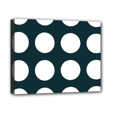 Big Dot Teal Blue Canvas 10  X 8