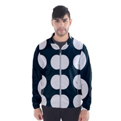 Big Dot Teal Blue Wind Breaker (men)